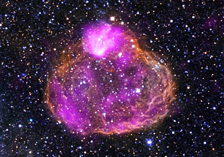 A superbubble located in the Large Magellanic Cloud about 160,000 light years from Earth.