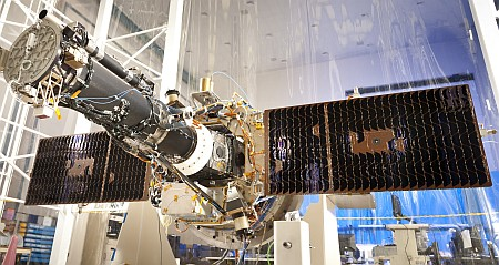 IRIS with solar wings deployed in B/159