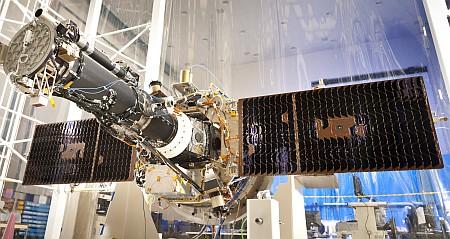 IRIS with solar wings deployed in B/159