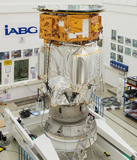 LISA_Pathfinder_launch_composite_at_IABG_s_space_test_centre
