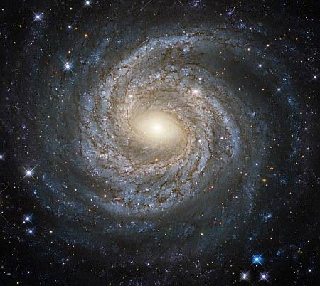A spiral snowflake