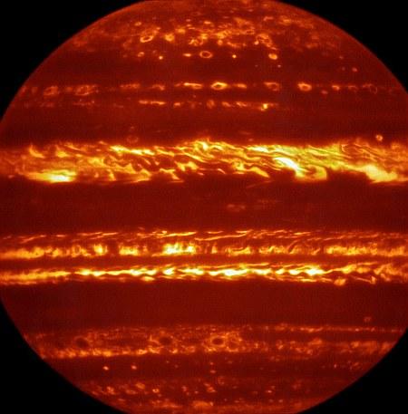 Jupiter imaged using the VISIR instrument on the VLT