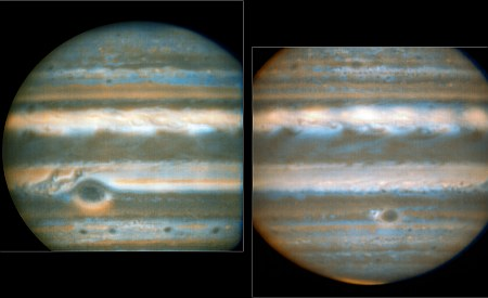 Two faces of Jupiter
