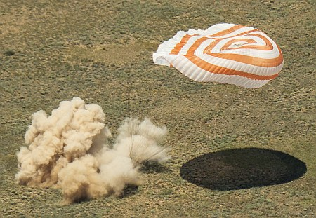 Expedition 47 Soyuz TMA-19M Landing