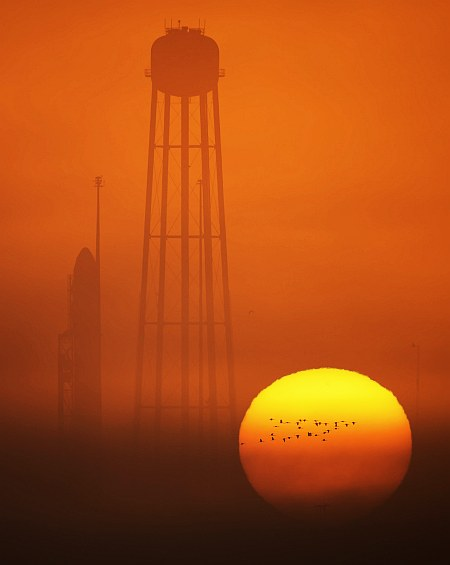 Antares Rocket Prelaunch