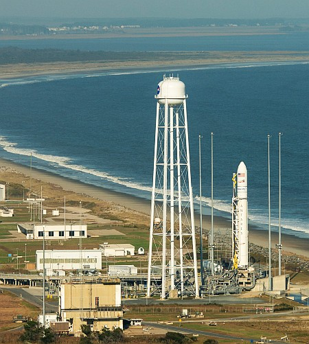 Antares Rocket Prelaunch